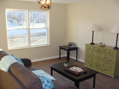 AFTER- Creating a focal point with staging
