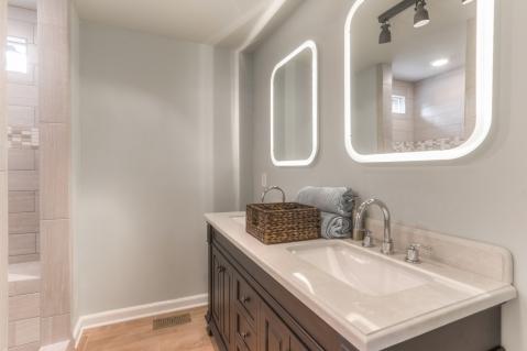 8-Lighted mirrors, double vanities